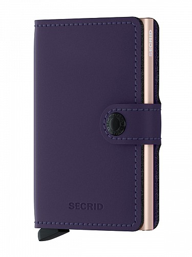 Unisex Πορτοφόλια Secrid | Miniwallet Matte Purple Rose | Wallets