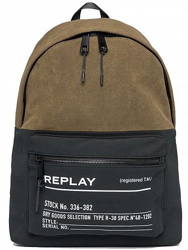 Ανδρικές Τσάντες Replay | Suede Two-Tone Fabric Bag | Mens Bags